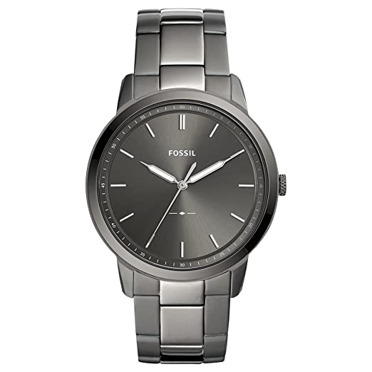 224e1fa278d9 Image Unavailable. Image not available for. Colour  Fossil The Minimalist  Three Hand Smoke Stainless Steel Men s Watch FS5459