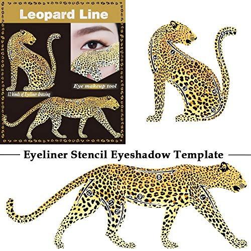Budicool Eyeliner Stencil Eyeshadow Template Leopard Cat Line Guide Template Eye Makeup Tool(pack of 4) (Pink)