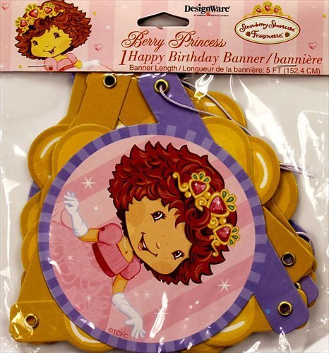 Strawberry Shortcake 'Berry Princess' Happy Birthday Banner (1ct) (Strawberry Shortcake Birthday Banner)
