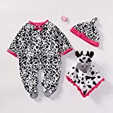 Reborn Baby Doll Outfits Girl Accessories for 20''- 22'' White and Black Zebra Pattern
