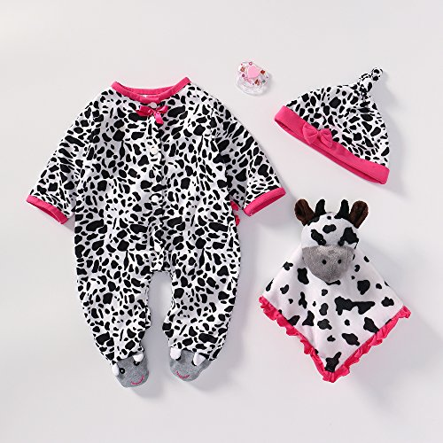Reborn Baby Doll Outfits Girl Accessories for 20''- 22'' White and Black Zebra Pattern by Yesteria