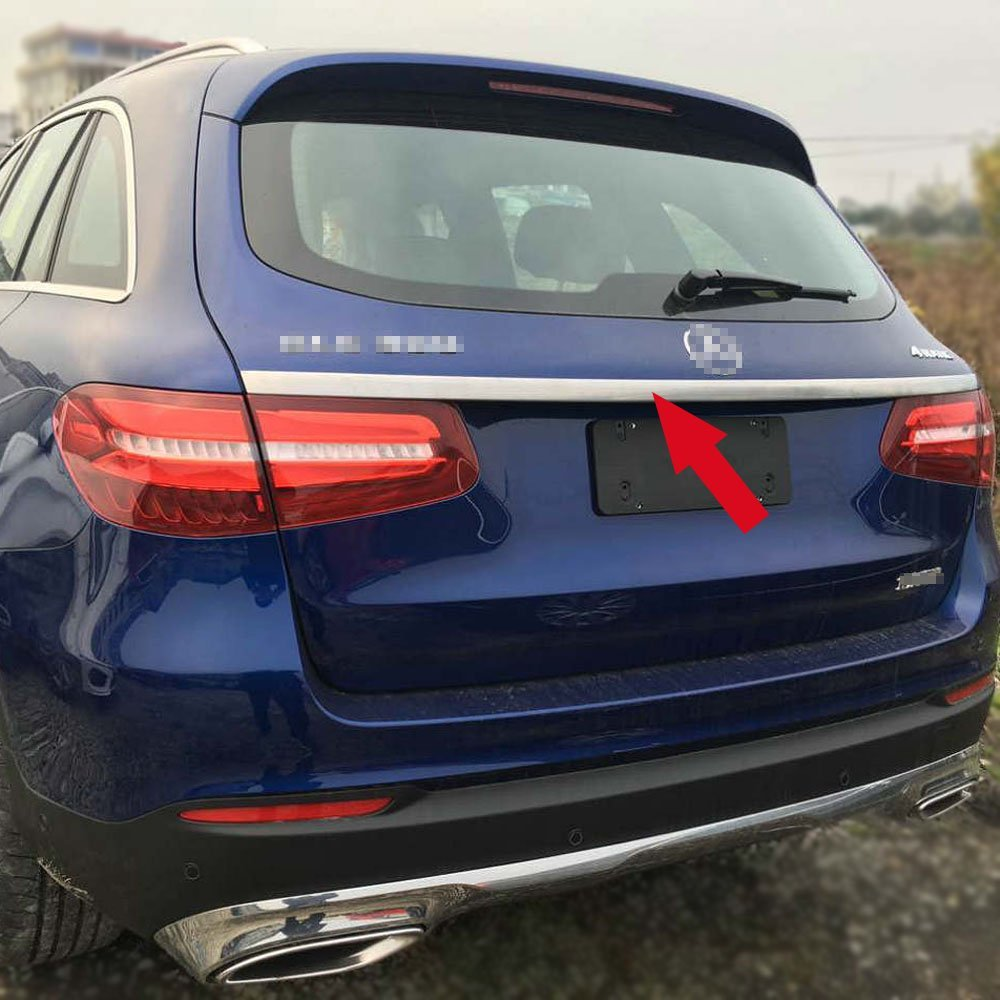 Fit for Benz GLC GLC300 2016 2017 2018 2019 Rear Trunk Lid Moulding Trim Stainless Steel