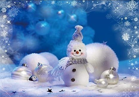 Amazon Com Csfoto 7x5ft Background For Cute Snowman Merry
