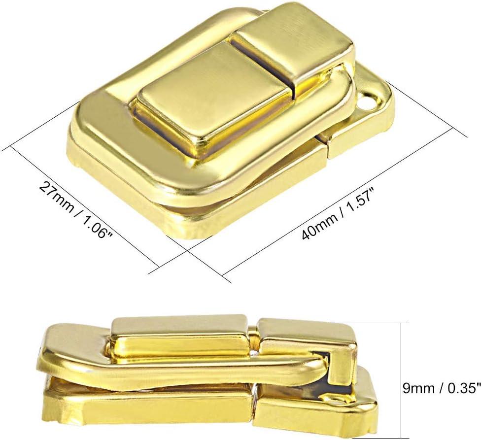 caja de bloqueo hebilla 40 mm Retro decorativo amarillo cierre de pestillo para maleta 2 piezas cierre de cerradura