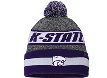 on sale fc34d 159a2 TOW Top of the World NCAA Cumulus Striped Cuffed Knit Adult Beanie Hat Cap ( Kansas