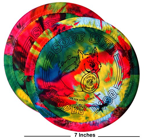 Floppy Disc Made in USA, Limited Edition, Soft Flying Disc Toy for Dogs, Economy 2-Packs (Calypso, 7 inch)
