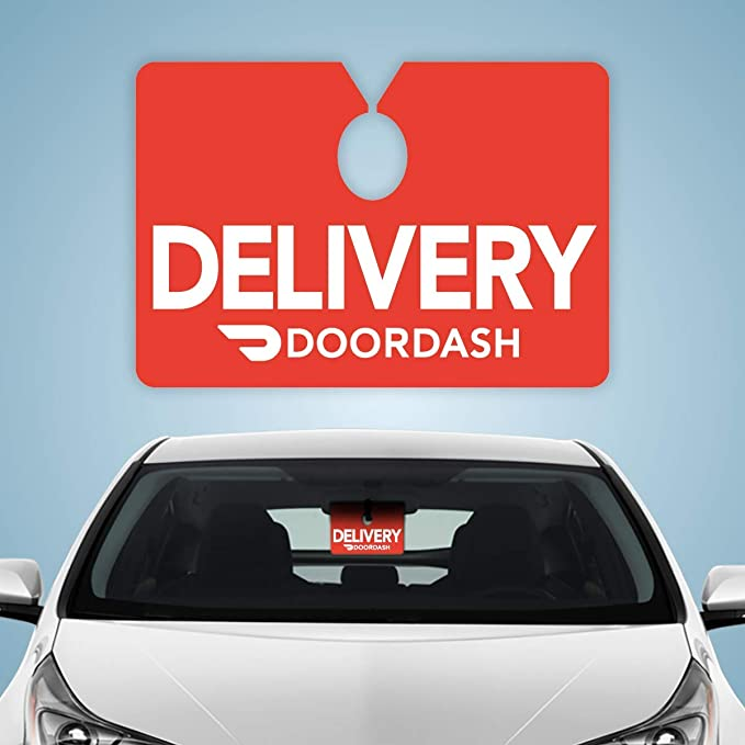 Set of 6 Plastic signs for Uber Eats Food Delivery driving service for a car rear view mirror name badge trunk doors auto bumper sticker