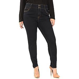 Angels Jeans Women's Plus-Size 360 Sculpt Skinny Jean in Mari Size ...