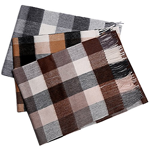 Men's cashmere scarf all-match young thick warm scarf