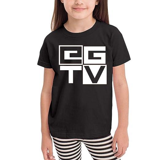 8a809f2cf Amazon.com: Kids Shirts EthanGamerTV Logo Shirt Casual Short Sleeve Cotton  Summer Clothes Sport T Shirt Tollder Boys Girls: Clothing