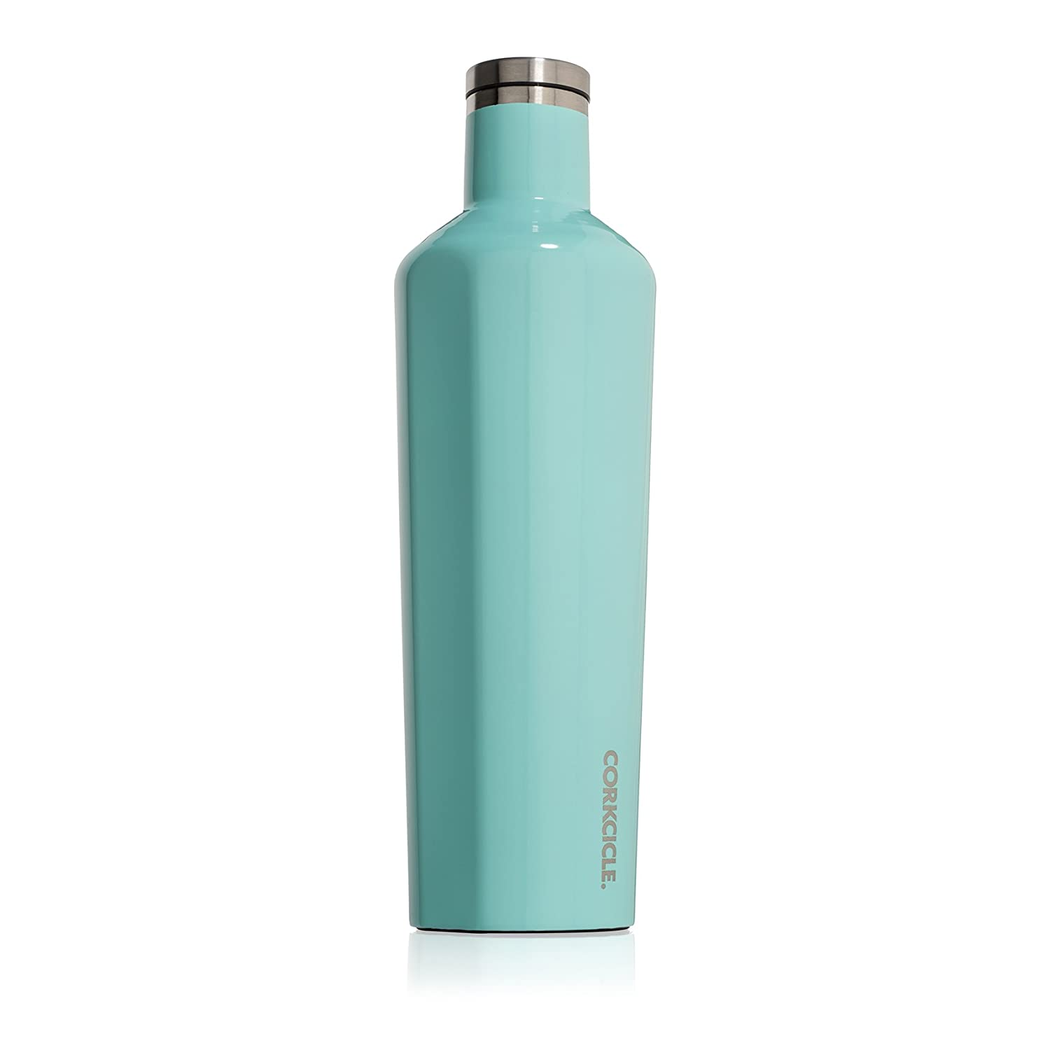 Corkcicle Canteen Classic Collection - Water Bottle & Thermos - Triple Insulated Shatterproof Stainless Steel, Gloss Turquoise, 25 oz