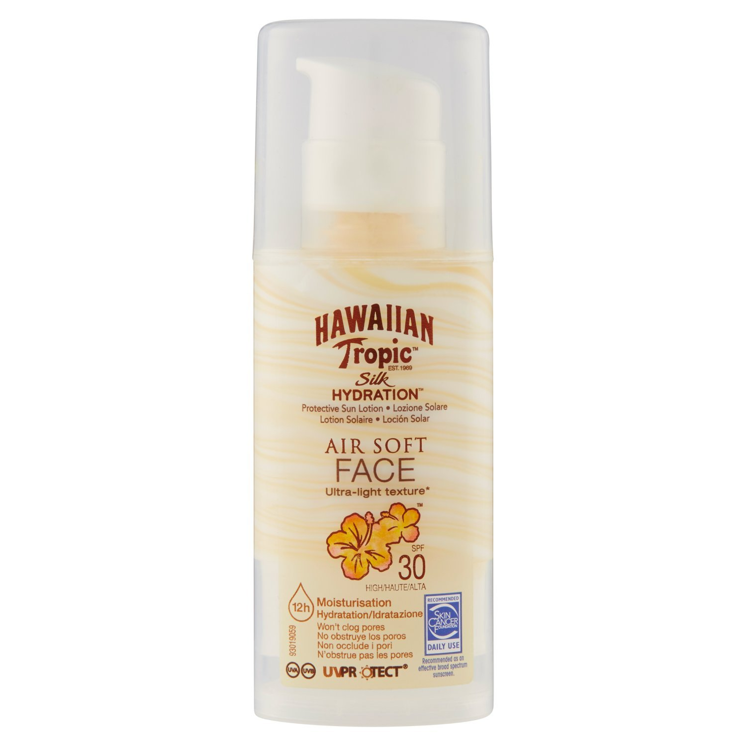 Hawaiian Tropic silk hydration air soft face SPF30-50ml Y300752601