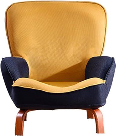 Tatami bebé pequeño sofá mini lectura silla de lectura jardín de infancia perezoso sofá silla plegable silla sofá plegable, tela de malla tridimensional, patas de sofá de madera maciza Reclinables Salón Sillas: