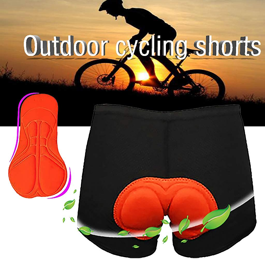 Damen Herren Kurze Radhose Gepolstert Fahrradhose mit 3D Sitzpolster Radlerhose Frauen Atmungsaktiv Radhose f/ür Herren und Damen Outdoor-Radhose Shorts