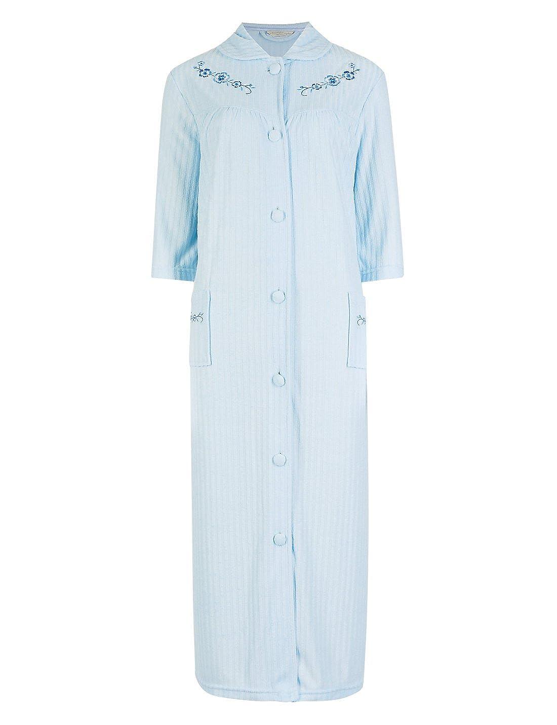Short Standard Length Sizes 8-10 12-14 16-18 20-22 Blue Ladies Famous Make Light Towelling Dressing Gown