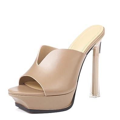 Mules Femme Cuir Mode Sexy Annieshoe Confortable Elegant Sandales nNwkO80PX
