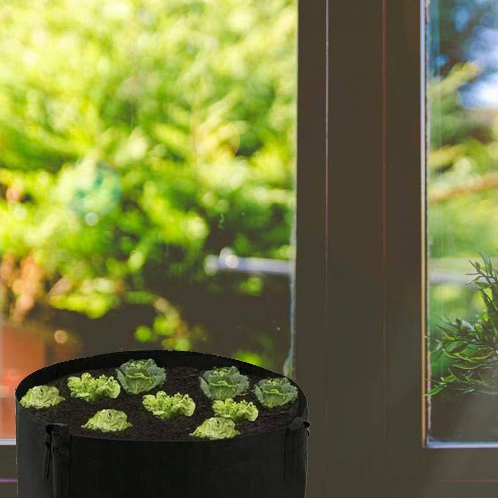 Pflanzer Outdoor Garten Gem/üsesalat Tomate Growbag Blumentopf Filz Stoff angehobenes Bett ningxiao586 Garten angehobenes Bett mit Griff Filz wachsen Tasche f/ördern Luftwurzel Beschneiden