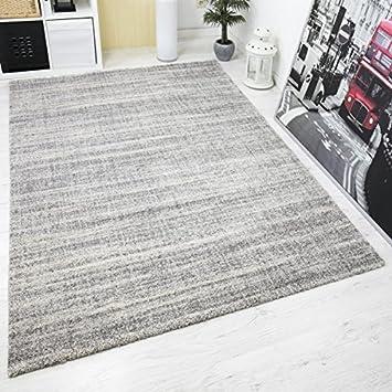 Teppich Hochwertiger Schlaf Wohnzimmer Grau Modern Dichter Hoher