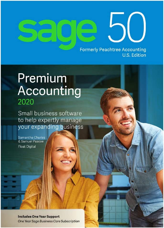 Sage Software Sage 50 Premium Accounting 2020 U.S. 2-User (2-Users)