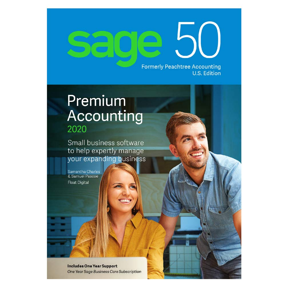Sage Software Sage 50 Premium Accounting 2020 U.S. 1-User by Sage Software