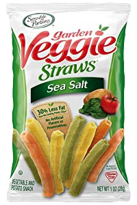 Sensible Portions - 30357 Garden Veggie Straws, Sea Salt, 1 oz. (Pack of 8)