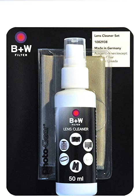 B+W 1082938 - Kit de Limpieza para Objetivos con Spray de 50 ML y ...