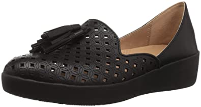 81061319726 FitFlop Women s Tassel Superskate D Orsay Loafers-Latticed Leather