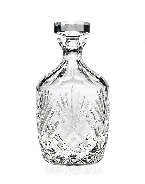 394b588946a3 Godinger Berkshire Whiskey Decanter, Lead Free Crystal - 36oz