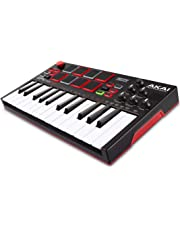 AKAI Professional MPK Mini Play | Standalone Mini Keyboard & USB Controller with Built-In Speaker, MPC-Style Pads, On-board Effects, 128 Instrument & 10 Drum-Sounds and Software Suite Included