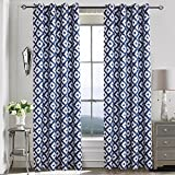 Design Curtains Navy Blackout Drapes – Anady 2 Panel Room Darkening Grommet Top Curtains for Bedroom Living Room 100 inch Length(Customized Available) For Sale