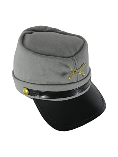 1d871c7bef5 Amazon.com  Confederate Hat Soldier Federal Army Kepi Wool Civil War  Costume 58cm  Clothing