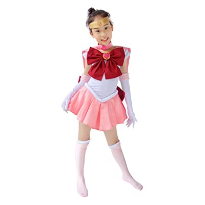 DAZCOS Child Size Pink Sailor Chibi USA Small Kids Cosplay Costume: Clothing