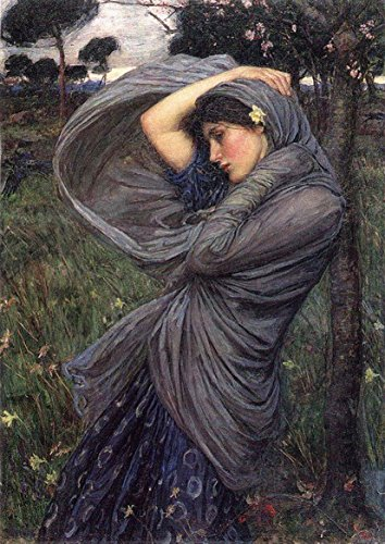 John William Waterhouse: Boreas. Fine Art Print/Poster. Size A2 (59.4cm x 42cm)