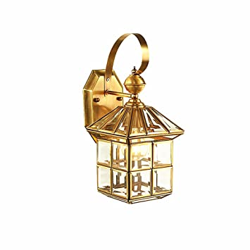 Outdoor Waterproof Wall Sconce European Balcony Wall Lamp Hallway Entrance Lamp Indoor Wall Lamp Outdoor Lamps - - Amazon.com