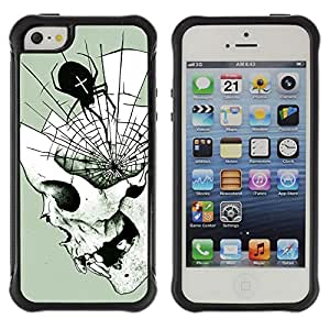 Be-Star único patrón Impacto Shock - Absorción y Anti-Arañazos Funda Carcasa Case Bumper Para Apple iPhone 5C ( Spider Web Mind Fangs Deep Halloween )