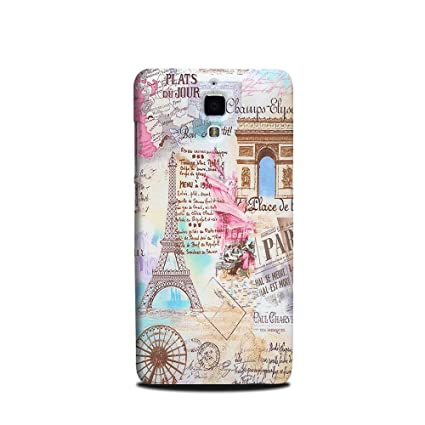 uk availability 964cf 0581d Xiaomi MI4 Designer case and Cover Printed Mobile Back Cover Eiffel Tower  Paris