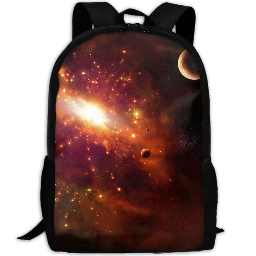 Space Galaxy Stars Double Shoulder Backpacks For Adults Traveling Bags Full Print Fashion by THIS STORE