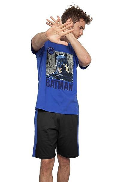 Batman - Pijama Corto Para Hombre, Color Azul, Talla Xxl