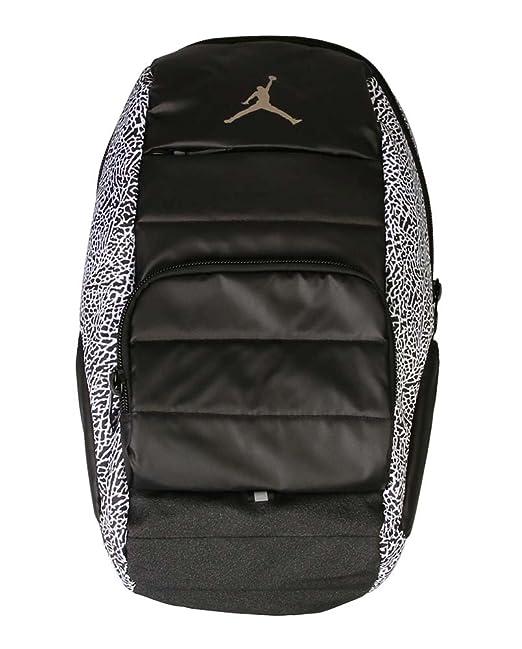 3c77f6b8f501 Amazon.com  Nike Jordan Jumpman Backpack Black 9A1640-210  Sports   Outdoors