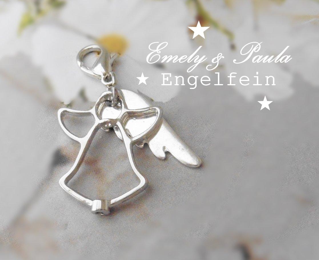 1 Charm Engel Flügel Liebe Valentinstag Karabiner Anhänger