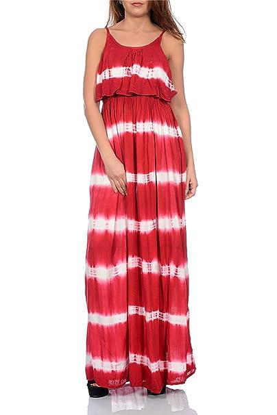 ba6035919eaa Pistachio Abito lungo da donna con stampa a strisce colorate, con spalline,  maxi vestito plissettato: Amazon.it: Abbigliamento