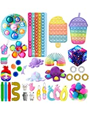 Sensory Fidget Toys Sets, 30 Pack Fidget Toy Sets Cheap with Dimples-Digits for Kids Adults, Fidget Box Bubble Stress Reliever Anxiety Relief Sensory Toys (30 Pack Fidget Packs)