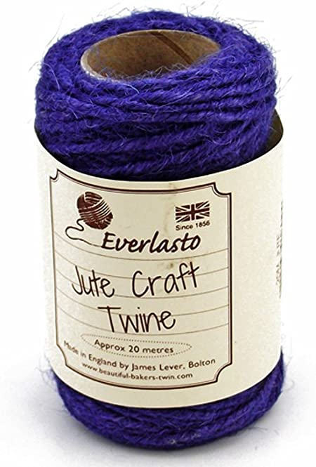 STRING CORD EVERLASTO BEAUTIFUL BAKERS TWINE VIOLET PURPLE 2mm 2 PLY