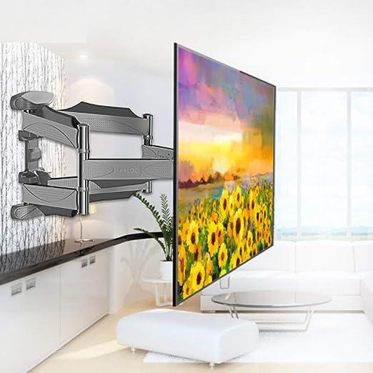 QMKJ Soporte de Montaje en Pared de TV giratoria de Seis Brazos Estructura estabilizada TV Rack Multifuncional Adecuado para 99,9% tamaños de Pantalla de TV Entre 32