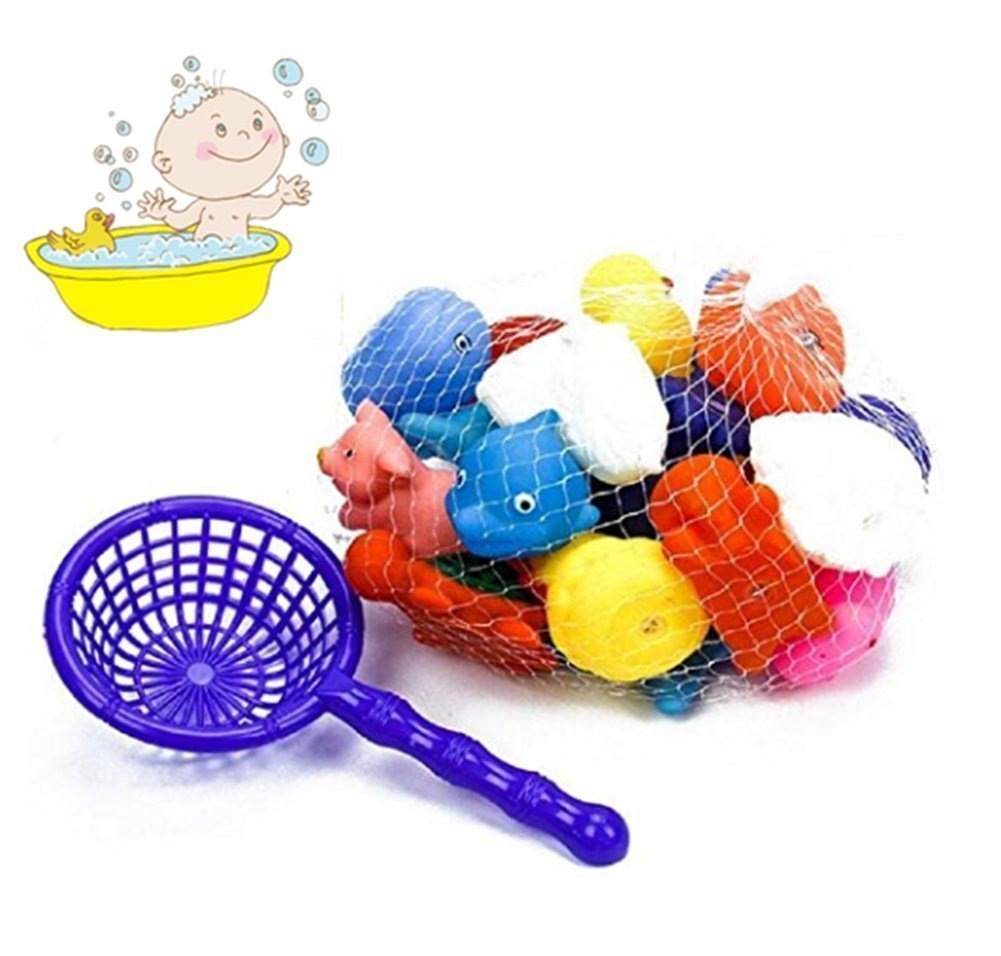 color aleatorio 10 piezas de juguete de ba/ño flotante juguetes de ba/ño para beb/és peque/ños animales flotantes de Squirters de ba/ño ba/ñera de ni/ños piscina flotador de caucho Squeeze Sound Play Toys