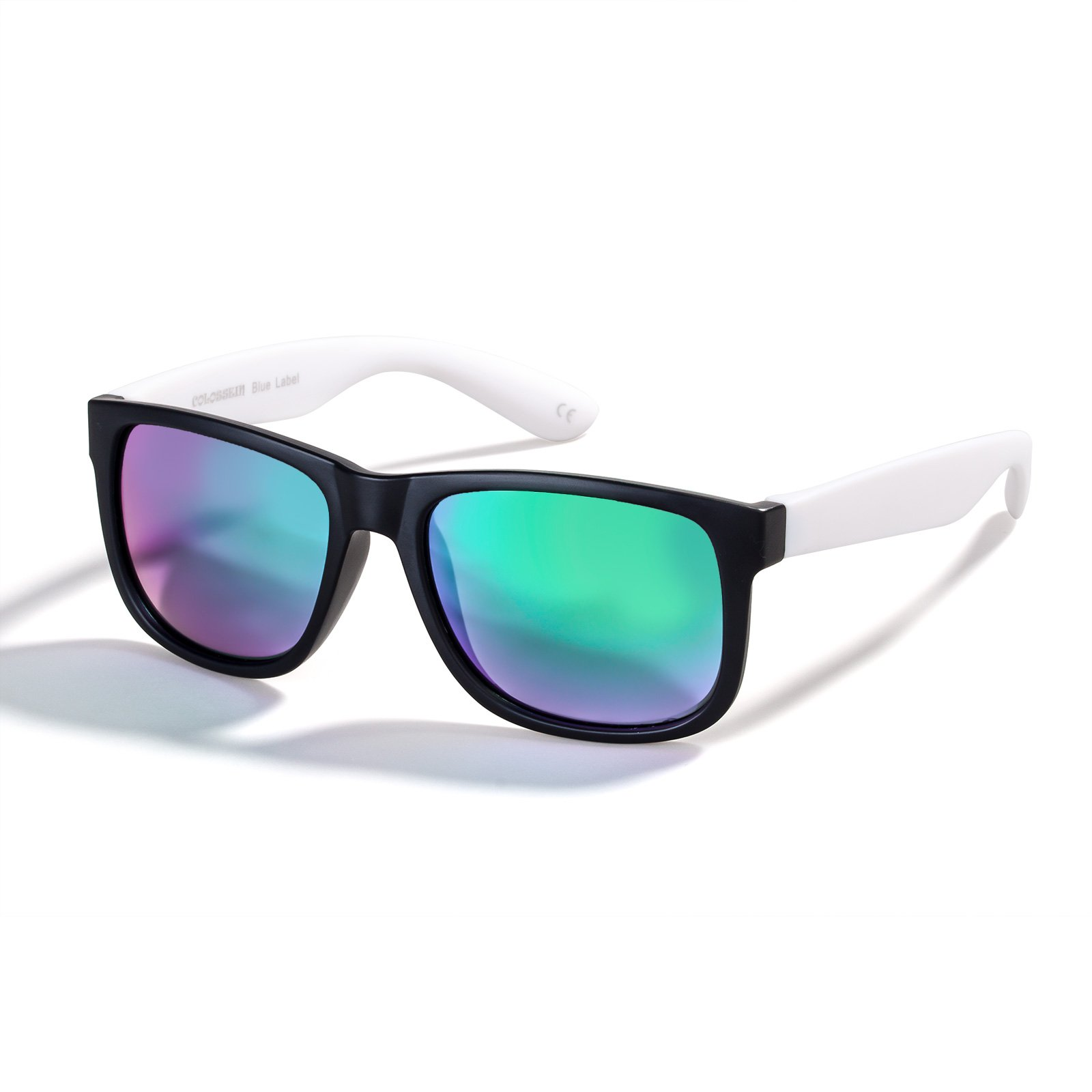 Colossein Men Metal Frame Flat Green Lens Polarized Oversized Sunglasses by COLOSSEIN