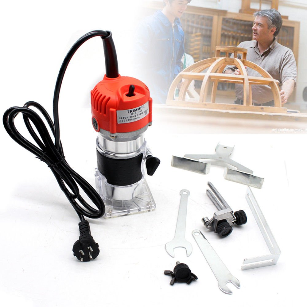 Electric Wood Trimmer Laminator Router Joiners Furniture Chamfering Cutting Tool