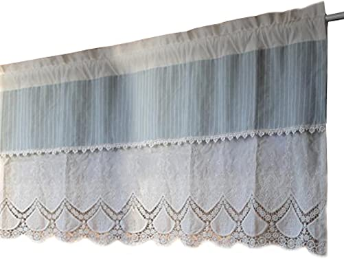 ZZ Lighting Half Window Blackout Cafe Kitchen Bathroom Valance Curtains One Piece 21 by 51 Inches
