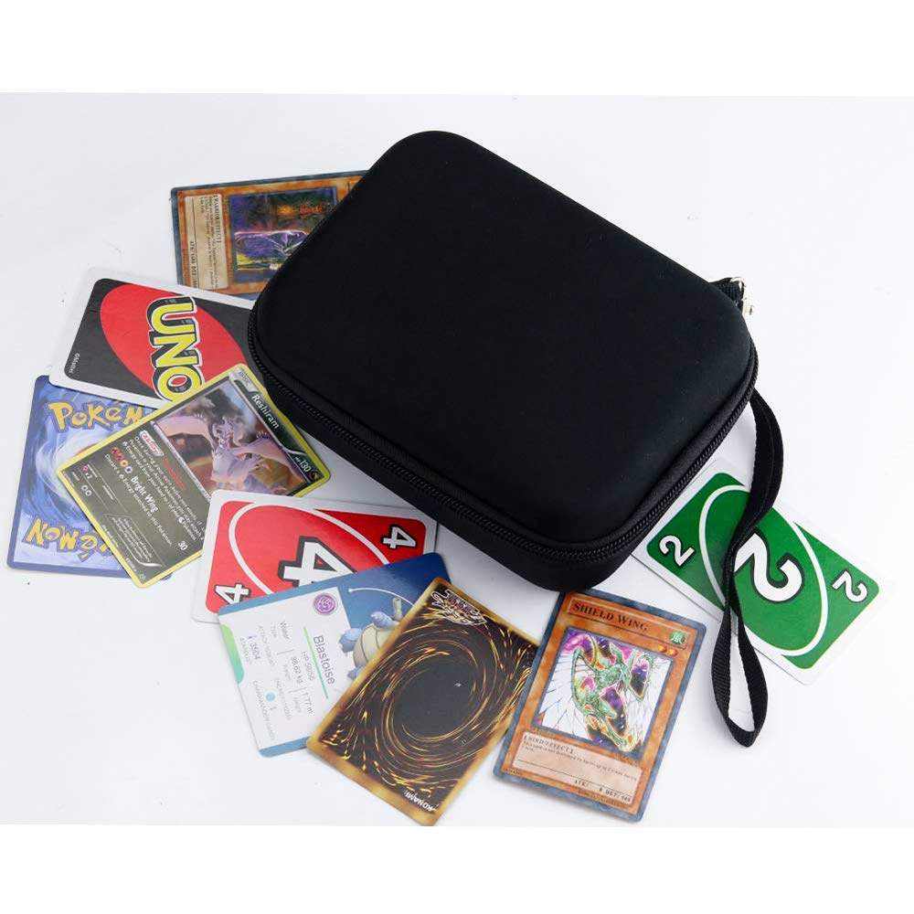 Brappo Hard Carrying Case for Pokemon Trading Cards Carabiner Removable Divider and Hand Strap Offered Card Game Holder Storage Holds 500+ Cards