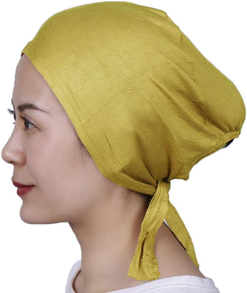 Premium Women Under Scarf Hijab TIE BACK Bonnet Cap Stretchy High Quality